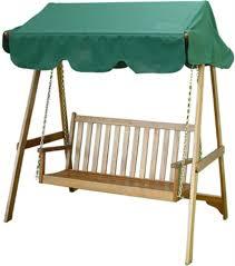 modern outdoor swing chair arbor red fabric pe rattan wood steel