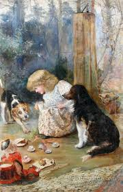 the dog s tea party artwork by charles burton barber