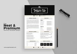 Cool Resume Templates Free Graphic Funky Creative