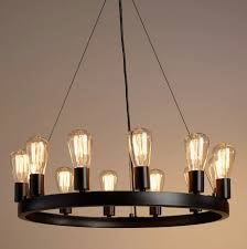 world market round 12 light edison bulb chandelier view full size