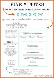 Planner 5 Free Daily Planner Printable 5 Minutes To A Better More Organized