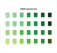 Many industries, usually printing, although sometimes in the manufacture of fabrics, plastics, and colored paint, use the color. 6 Pantone Color Chart Templates Doc Pdf Free Premium Templates