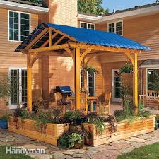 shade your deck how to build a stone patio