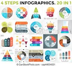 Vector Best Infographics Set Business Diagrams Arrows Graphs Startup Presentations Template Idea Charts Data Options With 4 Parts Steps