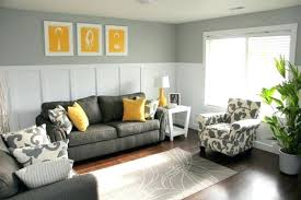yellow and grey furniture. Charcoal Grey Sofa And Chair Yellow Pillows Art Pieces Gray Painted Furniture Full Size F