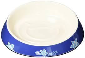 Rogz Catz Bowlz Fishcake Cat Bowl, 200ml, Blue Floral Design: Amazon.in:  Pet Supplies
