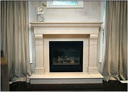 Interior. beige Fireplace Base Ideas with double beige legs connected by  pale beige fabric curtains