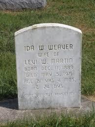 Ida Weaver Weaver Martin (1889-1971) - Find A Grave Memorial