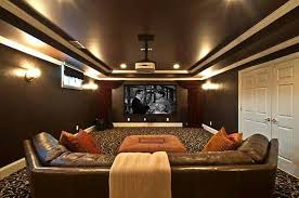 home theater lighting sconces. lighting fixtures , home theater : narrow with dark brown walls sconces