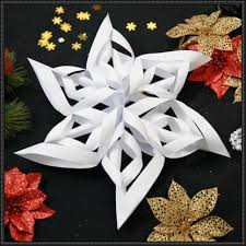 How To Make A 3d Snowflake Christmas How To Make A 3d Paper Craft Snowflake