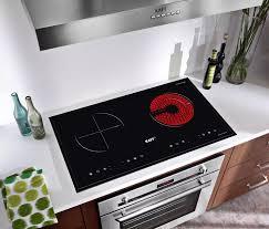 Nhập ELMAY21 giảm 10% tối đa 200k đơn từ 99k]Bếp điện từ hồng ngoại đôi cảm  ứng KAFF KF-073IC + Tặng Máy hút mùi nhà bếp cổ điển 7 tấc