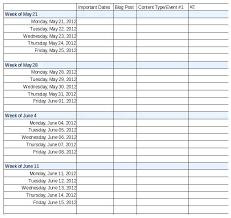 Excel Calendar Template 2015 Calendar Schedule Template Weekly