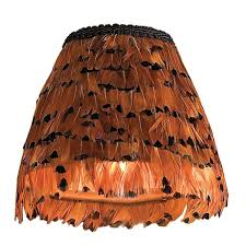 chandelier shades sconce light lamp pheasant feather shade hurricane mica small for chandeliers bamboo outdoor colorful