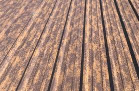 does corrugated metal rust industrial texture