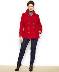 jason kole plus size double ted pea coat