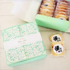 Decorative Cookie Boxes Free shipping bakery package green flower decoration cookie 98