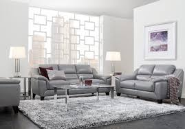 marielle gray leather 3 pc living rooms to go