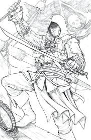 Assassins Creed Coloring Pages Interesting Coloring Pages