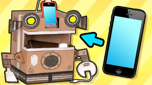 cardboard robot phone charger craft ideas with boxes diy on box yourself