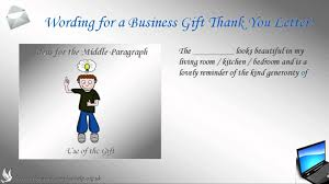 How To Write A Business Gift Thank You Letter Youtube