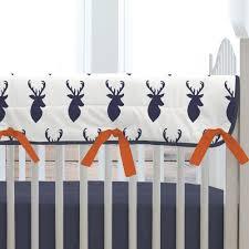 Carousel Designs Crib Rail Cover Bedding Carousel Designs Blue Woodland Mountains Crib Rail