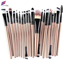 freshing 2016 new professional 20pcs makeup brushes 4 5 3 essential kit foundation powder make up brush set tools in makeup scissors from beauty