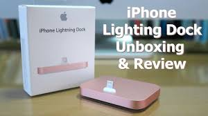 apple 2016 new iphone lighting dock rose gold unboxing review you