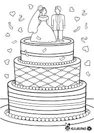Bruidstaart 40 Jaar Getrouwd In Speciaal Afbeeldingen Van Kleurplaat