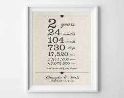 2 years together cotton anniversary print 2nd anniversary days with second year anniversary gift