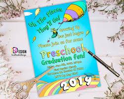 Preschool Graduation Announcements Oh The Places Youll Go Graduation Invitation Vpk