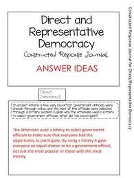 direct and representative democracy venn diagram direct and representative democracy constructed response tab book freebie