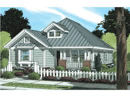 Heatherbrook Narrow Lot Home Plan D    House Plans and MoreNarrow Lot Ranch With Box Bay Window And Dormer