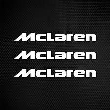Simple color vinyl Mclaren Logo | Stickers Factory