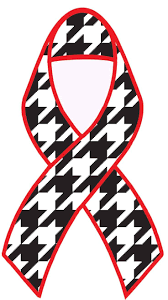 Alabama S Hounds Tooth Ribbon Honoring