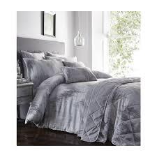 quartz silver metallic textured bedding