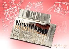 the porcelain crocodile makeup brush set best makeup brush kit in india pinit