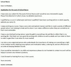Ideas Collection School Nurse Cover Letter Template With Additional