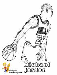 Big Boss Basketball Coloring Pictures Basketball Players Michael
