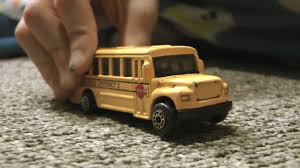 Hot Wheels School Bus Race Cars Trucks Toys In Action Kids Playing