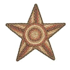 homee decor russet jute braided trivet rug 20 x 20 star