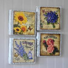 flower wall art french country wall