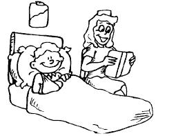 Kleurennu Zuster Leest Een Verhaal Kleurplaten