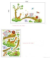 kids room nursery wall decor decal sticker cute big jungle animals bridge baby wallpaper posters