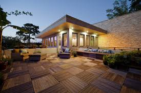 Decorations:Rustic Terrace Roof Design Idea Fascinating Terrace Roof Design  With Unique Wooden Floor