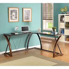 l shaped desk wood. Contemporary Desk Whalen Newport Wood U0026 Glass LShaped Desk Black Desktop In L Shaped Desk V