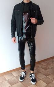 vans old skool black <b>rock</b> outfit | boys <b>guys</b> in leather pants tights <b>jacket</b>