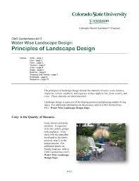 Principles Of Landscape Design Water Wise Landscape Design