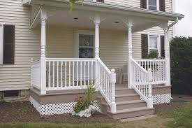 Vinyl Railing And Porch Post Pictures  HOOVER FENCE COMPANYPorch Railing Pictures
