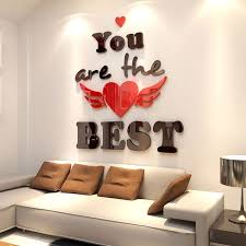 winsome wall decor stickers best of new romantic creative 3d living room bedroom for in sri