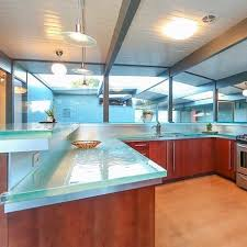 glass countertop kitchen recycled heat resistant